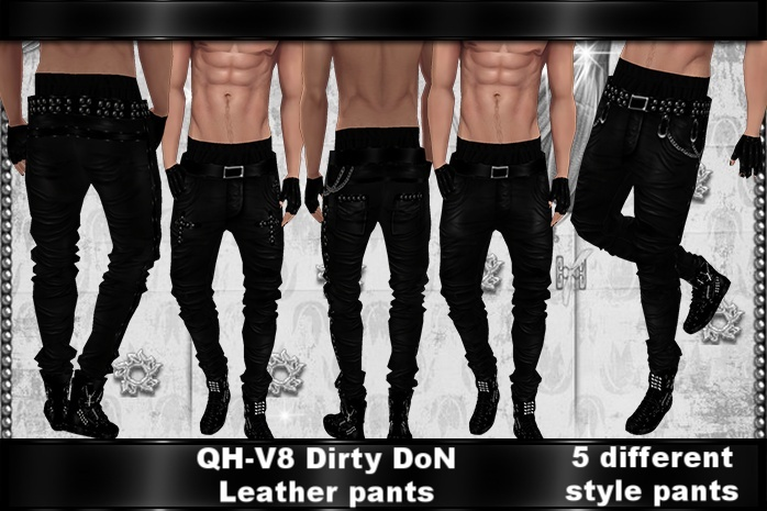 QH-V8 Dirty DoN Leather Pants