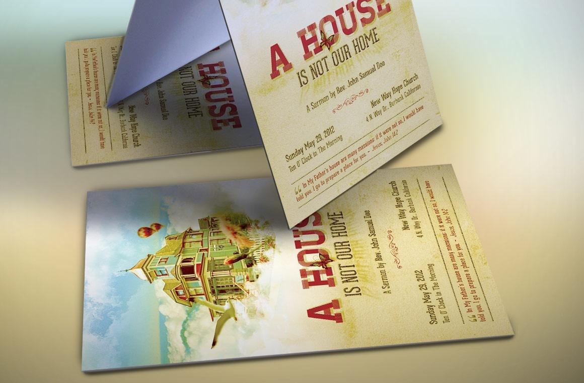 Home Church Flyer Template