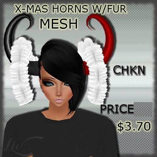 Horns With Fur MESH