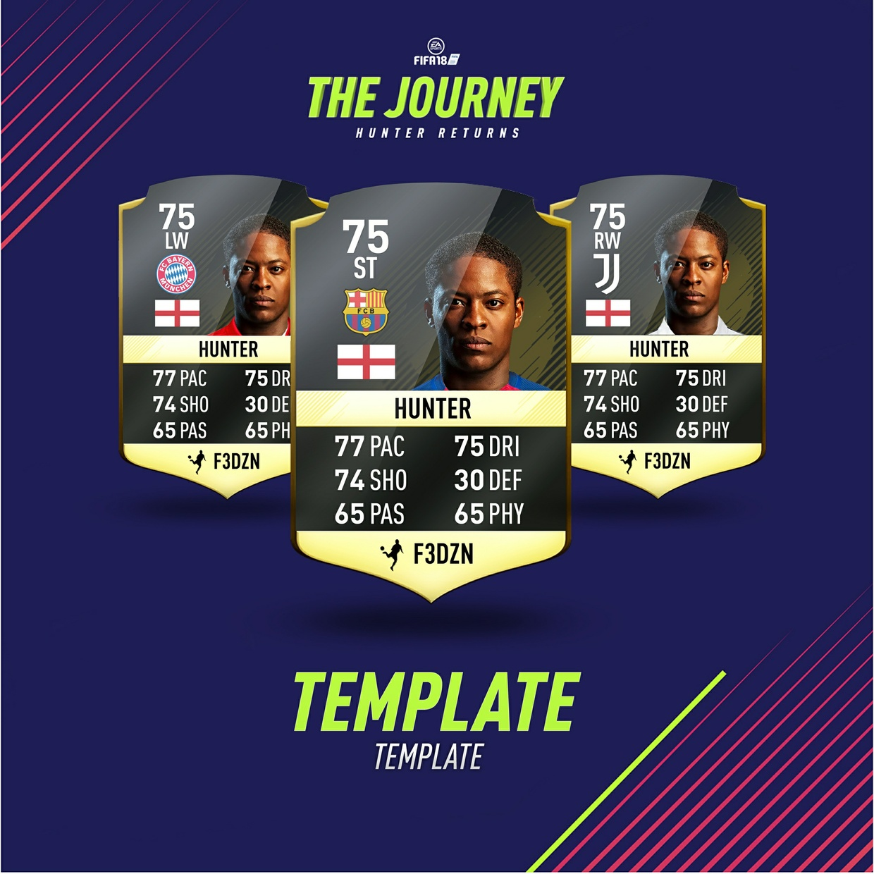 THE JOURNEY - GFX PACK - FIFA 18 - CARD and INSTAGRAM TEMPLATE