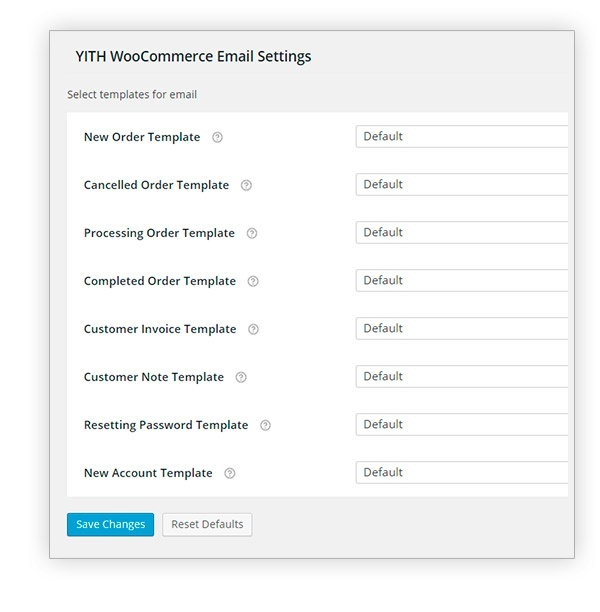 YITH WooCommerce Email Templates 1.3.7 Extension