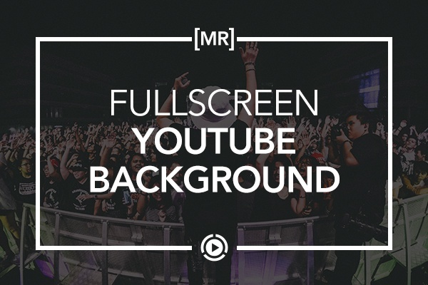 Fullscreen Video Background Widget