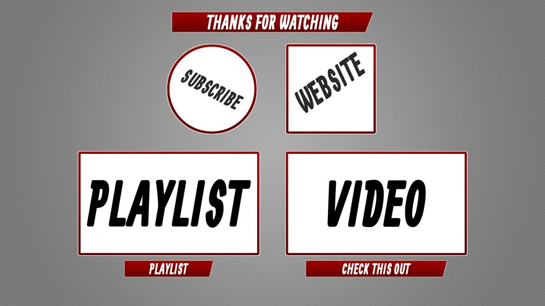 Basic YouTube End Screen