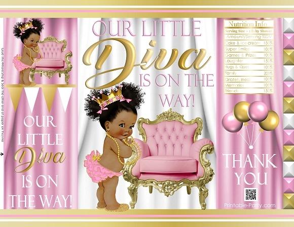 printable-chip-bags-royal-princess-pinkgold-african-baby-shower2