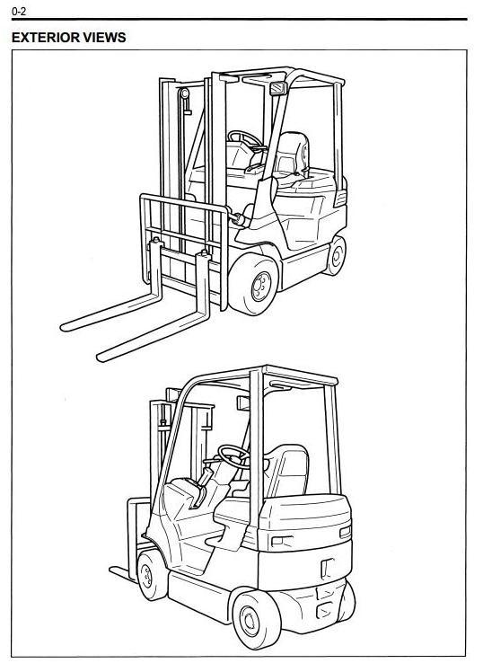 Toyota Electric Forklift Truck 7FB10/14/15/18/20/25/30, 7FBJ35, 7FBH10/14/15/18/20/25 Service Manual