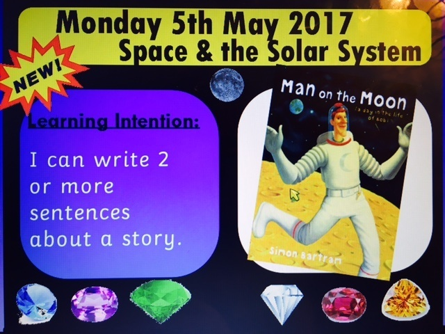 MAN ON THE MOON AND BEEGU STORY SLIDES - ACTIVPRIMARY FLIPCHART