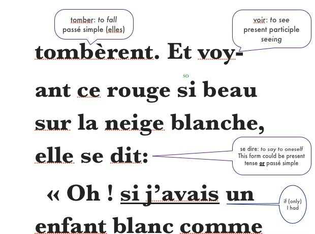 Lingo Classics: Annotated version of Blanche Neige (Snow White) for iThings