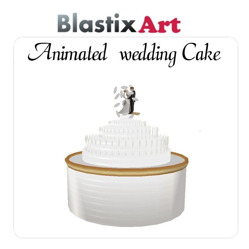 Animated wedding  cake