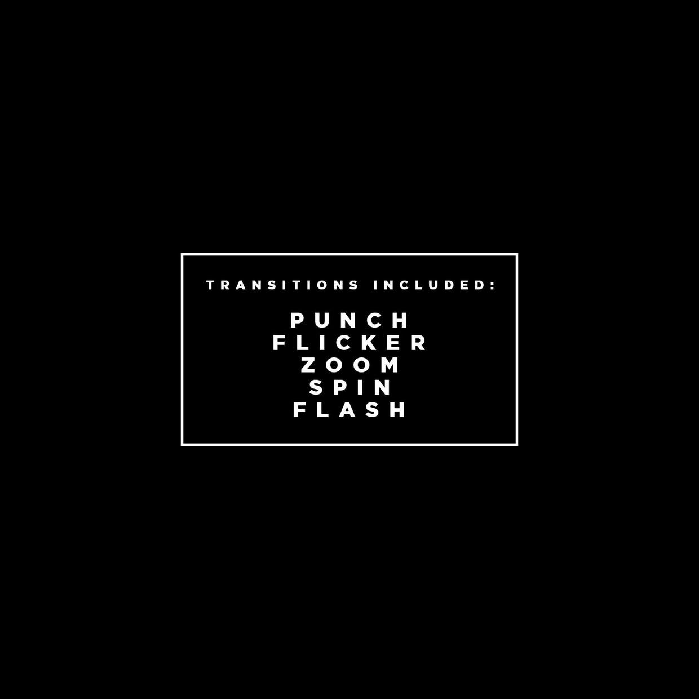 Transitions Pack 1 | ADOBE PREMIERE PRO CC+