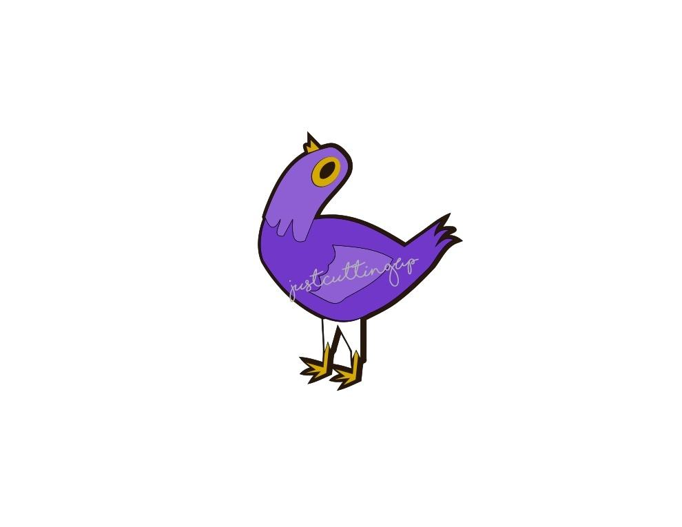 Purple Bird SVG, Purple Dove SVG,