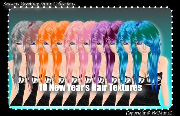 10 New Year's Hair Textures (SG)