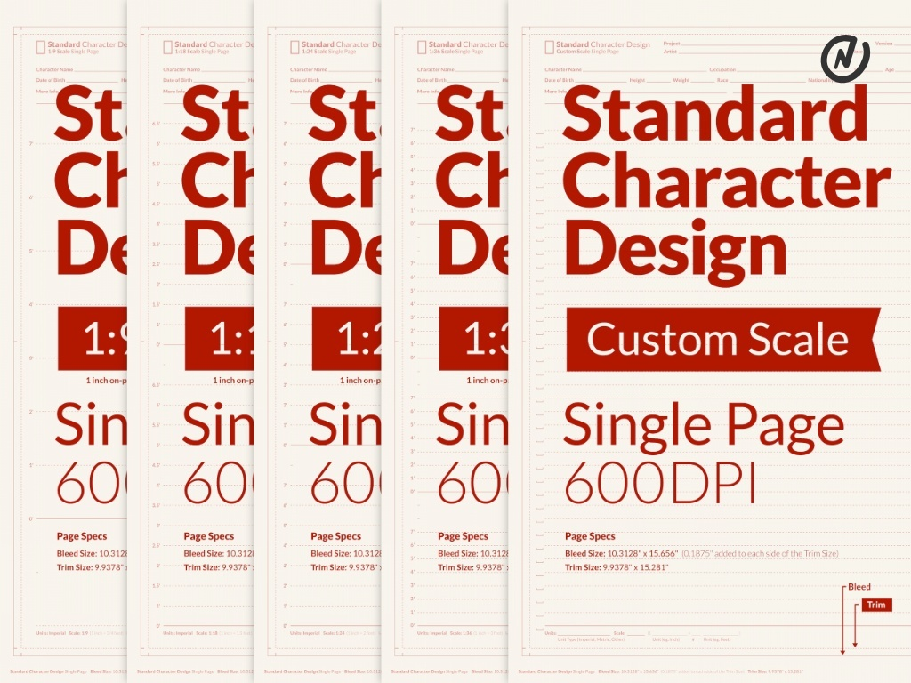 Standard Character Design Template for Clip Studio Paint