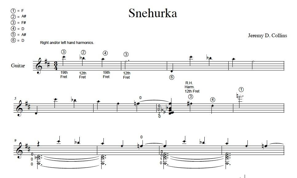 Snehurka - Sheet music score by Jeremy Collins