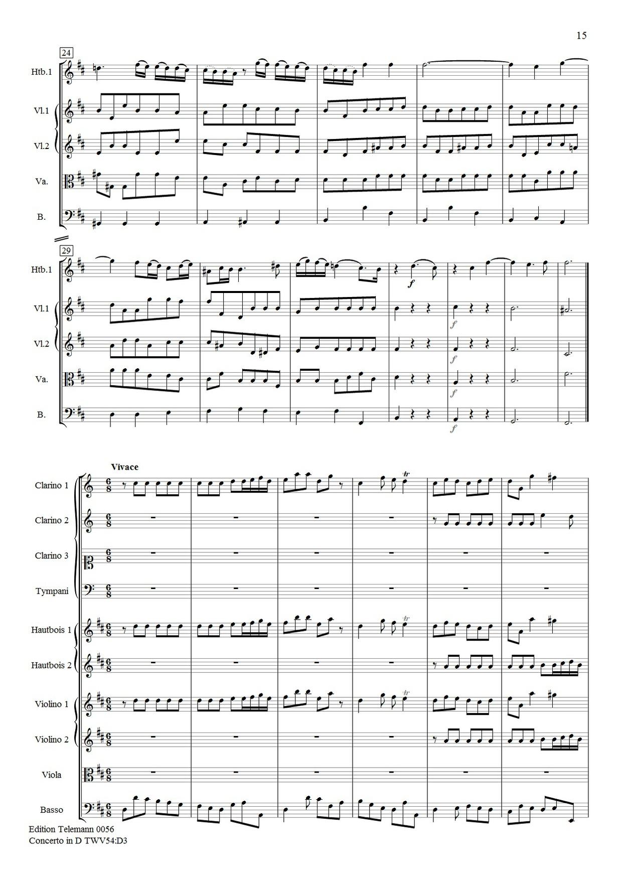Telemann Concerto in D TWV54:D3