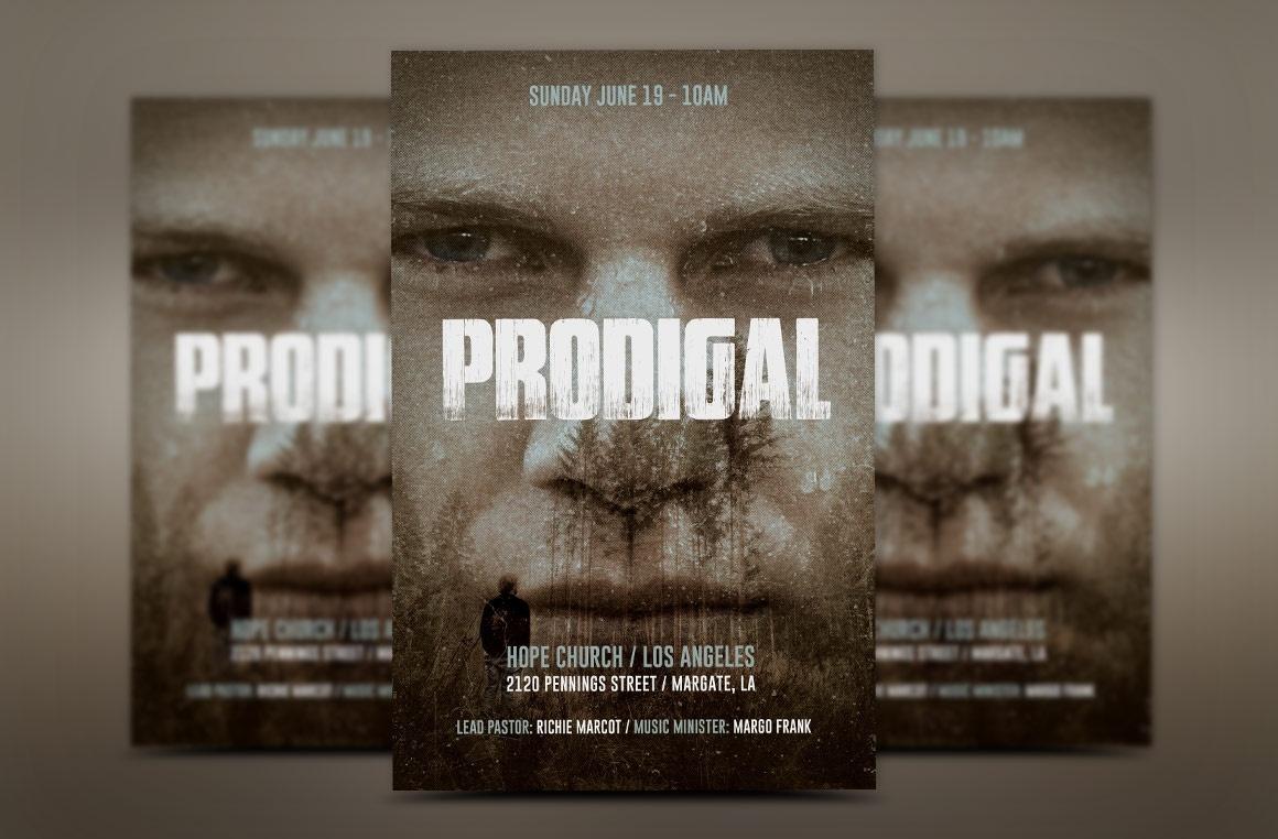 Prodigal Son Church Flyer Template