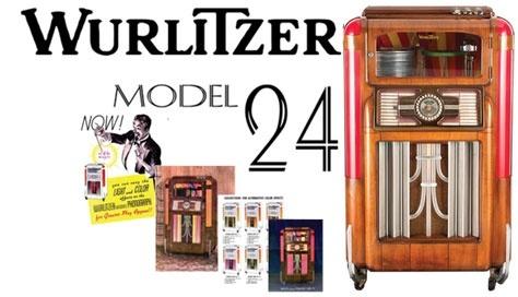 Wurlitzer Model 24, 24-A  (1937)  Amplifier Schematics & Rare 6 Page Brochure