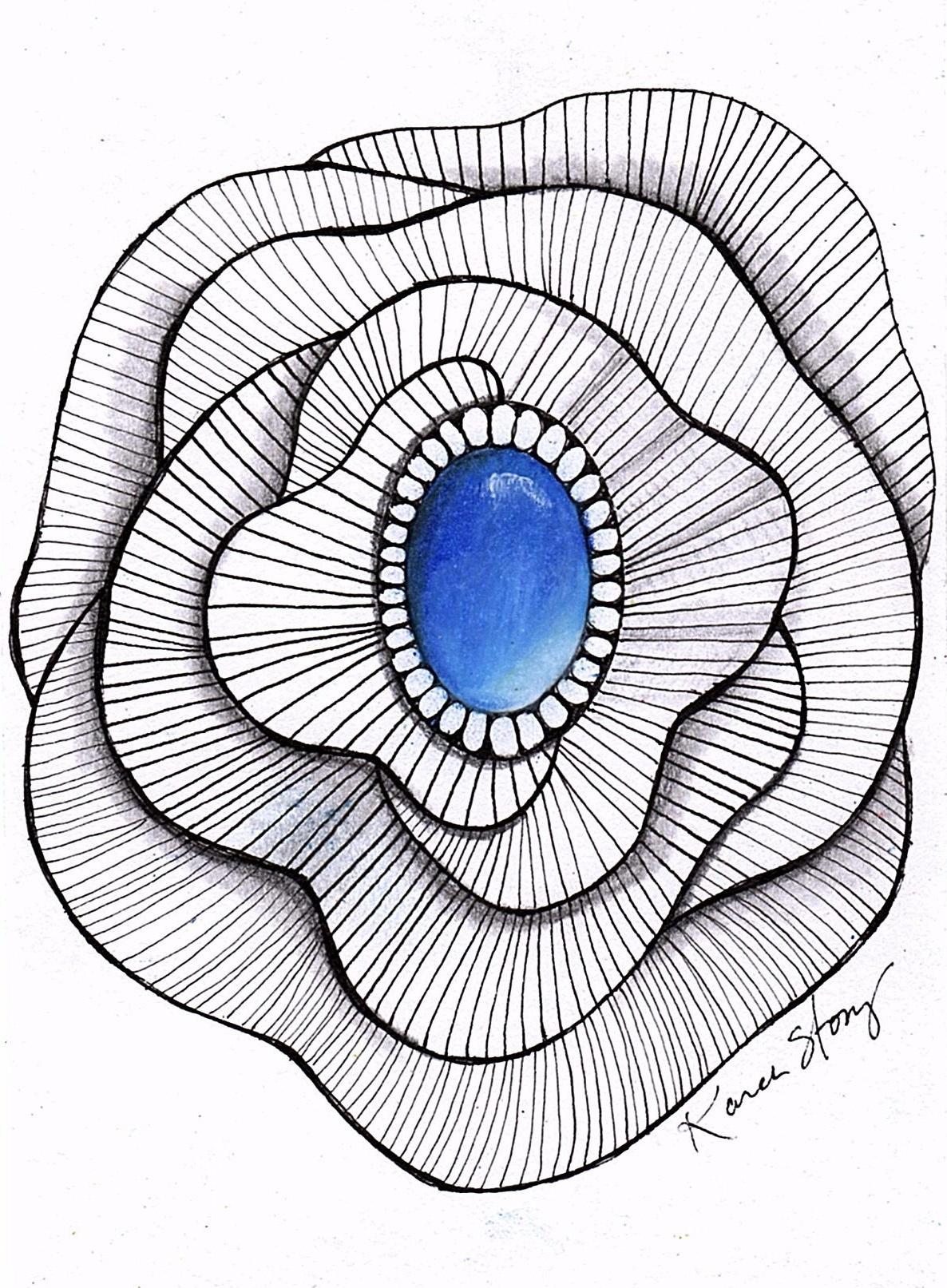 Sapphire Gem Doodle