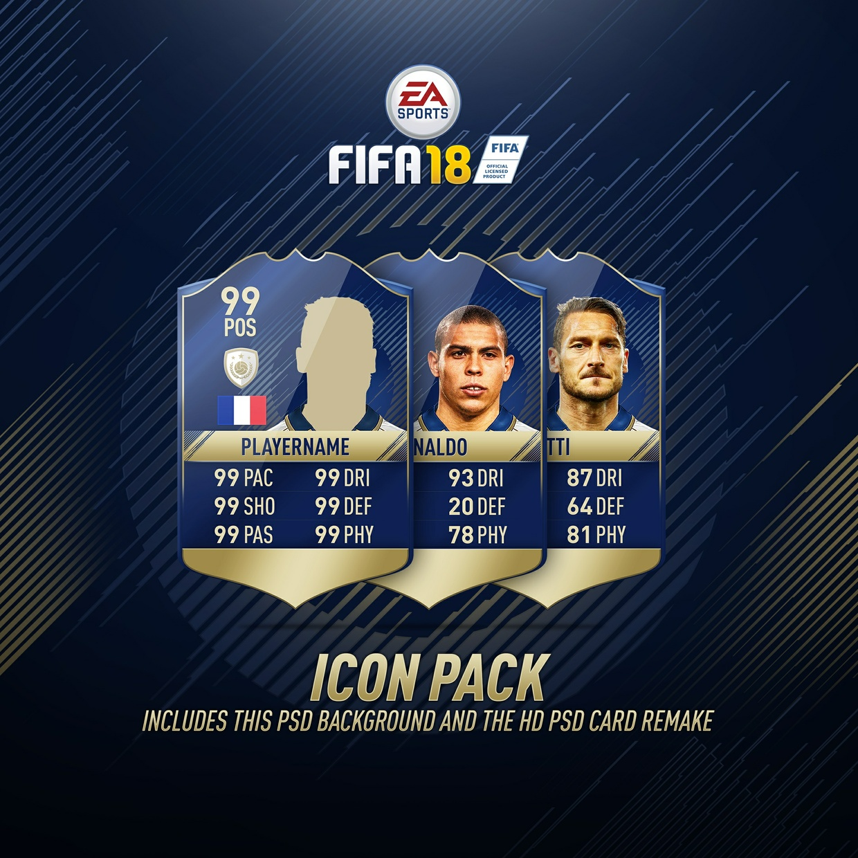 FIFA 18 Card+Background ultra HD and PSD