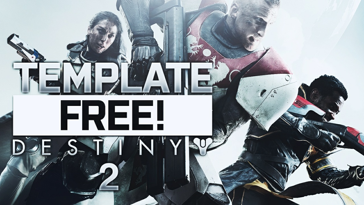 Destiny 2 - Thumbnail Template Pack - Photoshop Template
