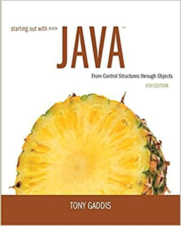Starting Out with Java: From Control Structures through Objects 6th ed( PDF , Instant download )
