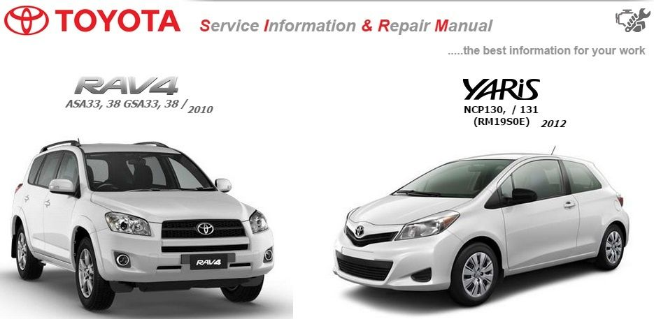 TOYOTA RAV4 & YARIS WORKSHOP MANUAL GSIC
