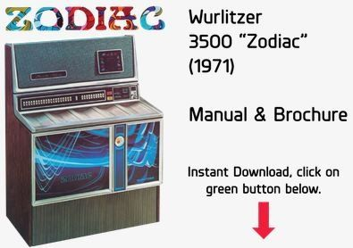 "Wurlitzer 3500 ""Zodiac"" (1971) Manual & Brochure"