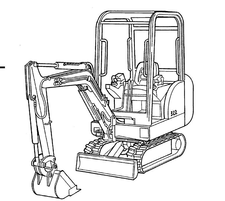 Bobcat 321-323 Compact Excavator Service Repair Manual Download