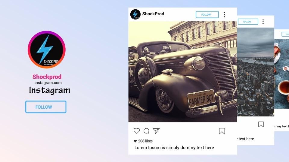 Template Instagram/Facebook Promo sony vegas 12 13 14