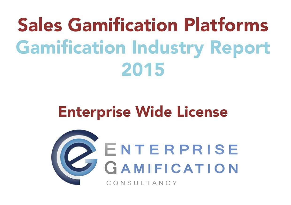 Sales Gamification Platform Report 2015 (Enterprise Wide License)