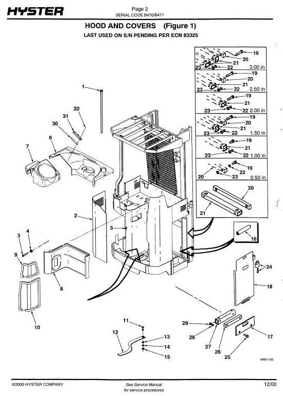 Hyster Reach Truck  N25XMDR2, N30XMR2, N40XMR2 (B470), N50XMA2 (B471 Series) Parts Manual