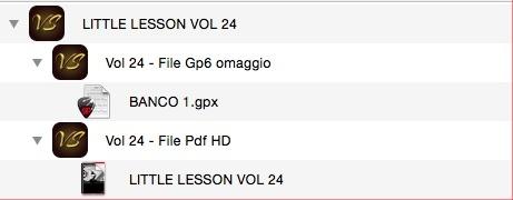 LITTLE LESSON VOL 24 - Format Pdf (in omaggio file Gp6)