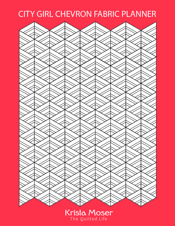 City Girl Chevron Fabric Planner