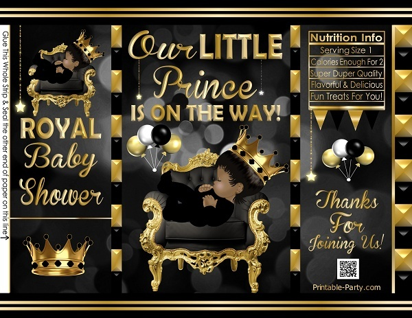 POTATO-chip-treat-favor-bags-royal-PRINCE-BABY-SHOWERblackgold