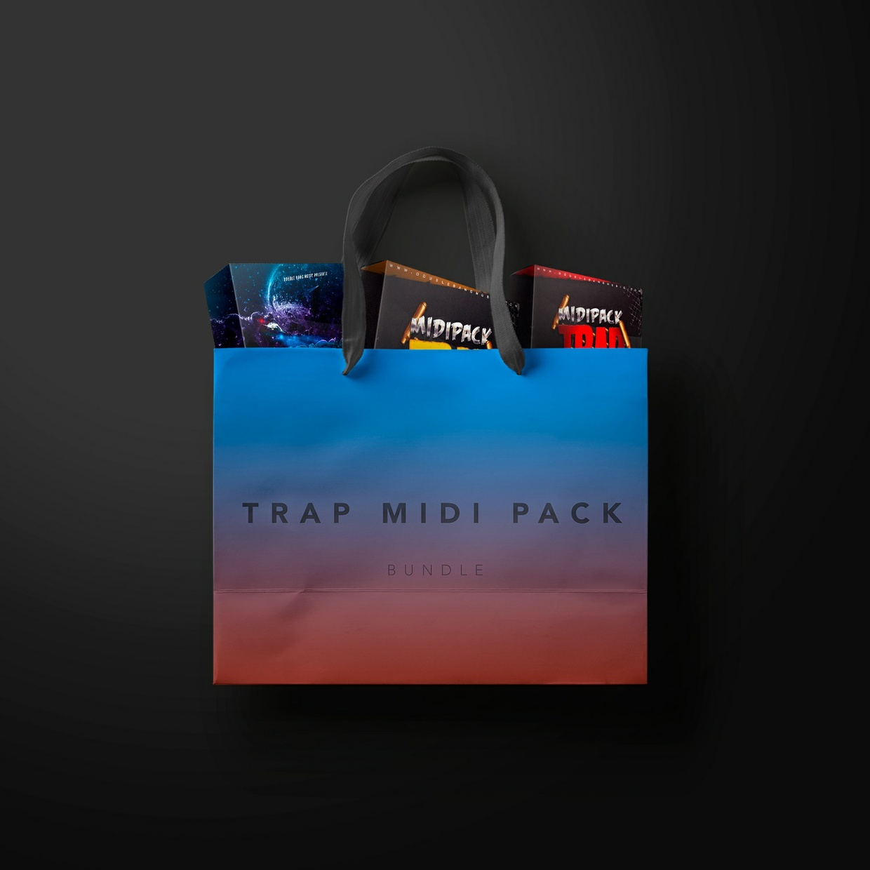 Trap Midi Pack Bundle (250 MIDI | 79 Loops)