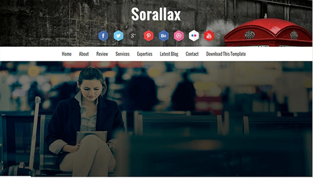 Sorallax Blogger Template Premium Version