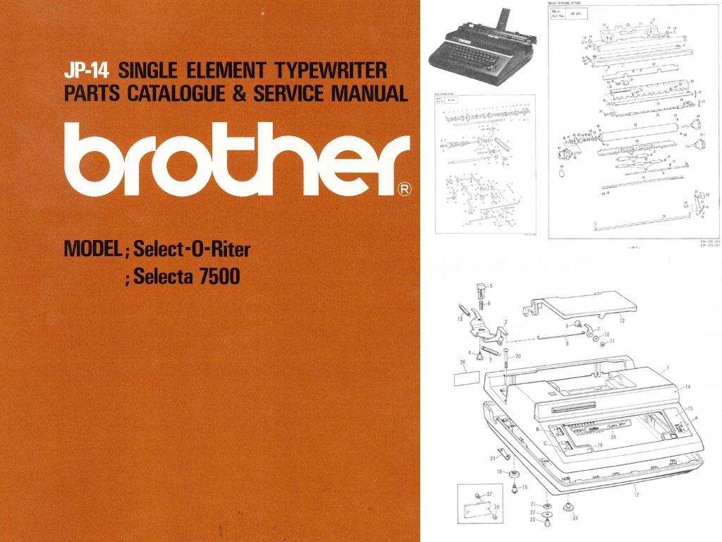 Brother JP-14 Electric Portable Typewriter Repair Adjustment Service Manual