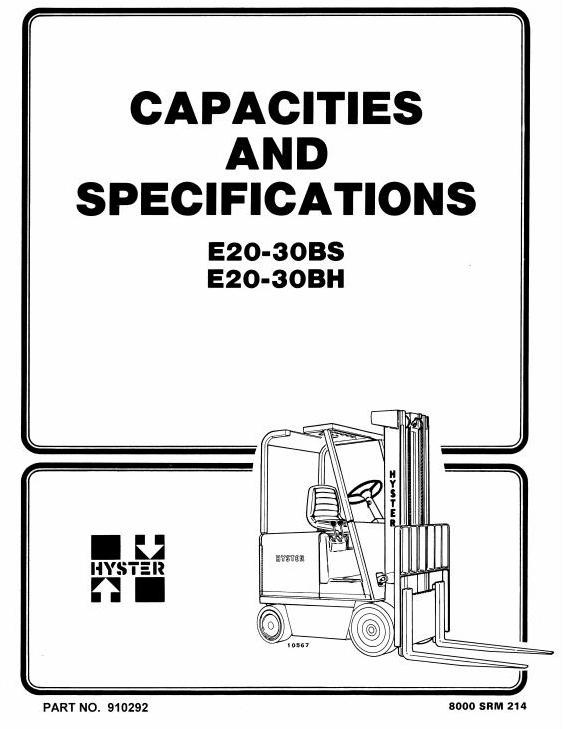 hyster electric forklift truck type b114 e20b e20bh rh sellfy com hyster 50 electric forklift manual hyster electric forklift service manual