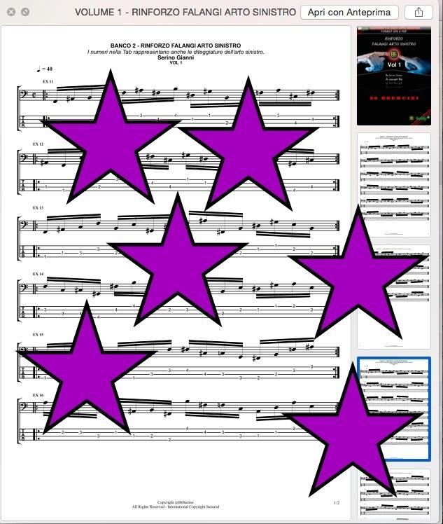 UNICO VOLUME - RINFORZO FALANGI DELL'ARTO SINISTRO - FORMA PDF (IN OMAGGIO FILE GP6)