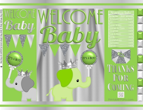 printable-potato-chip-bags-baby-shower-prince-boy-elephant-apple-green-silver