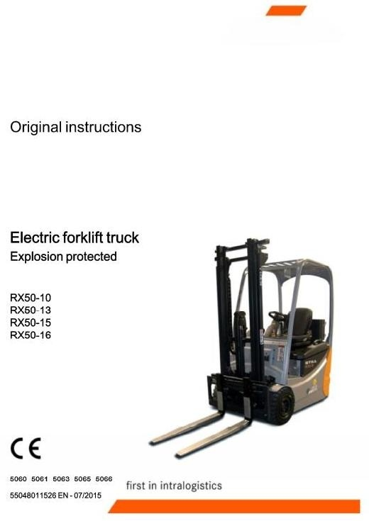 Still Explosion Protected Truck RX50-10, -13, -15, -16: 5060, 5061, 5063, 5065, 5066 Service Manual