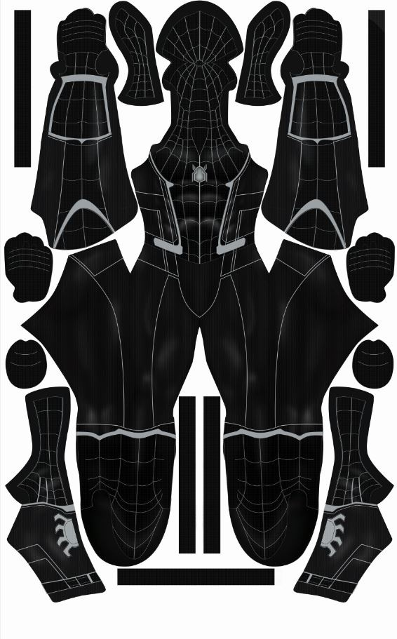 Symboite Spider-Man Homecoming Suit Pattern