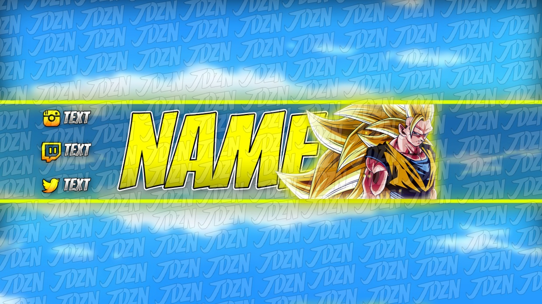 SSJ3 Goku YouTube Banner Template