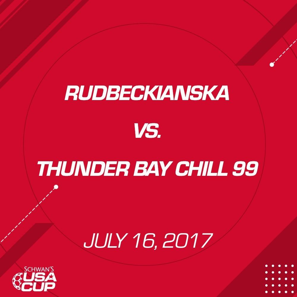 Boys U19 - July 16, 2017 - Rudbeckianska V. Thunder Bay Chill 99