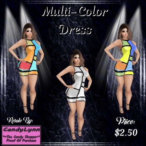 Clothing -- Multi-Color Dress (Catty Upload only)