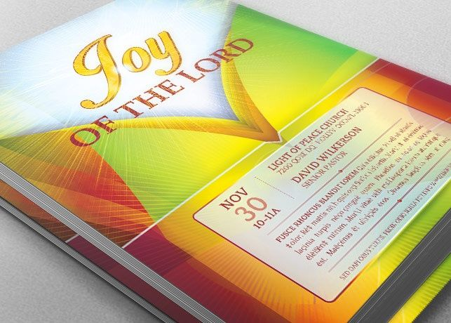Joy of The Lord Church Flyer Template