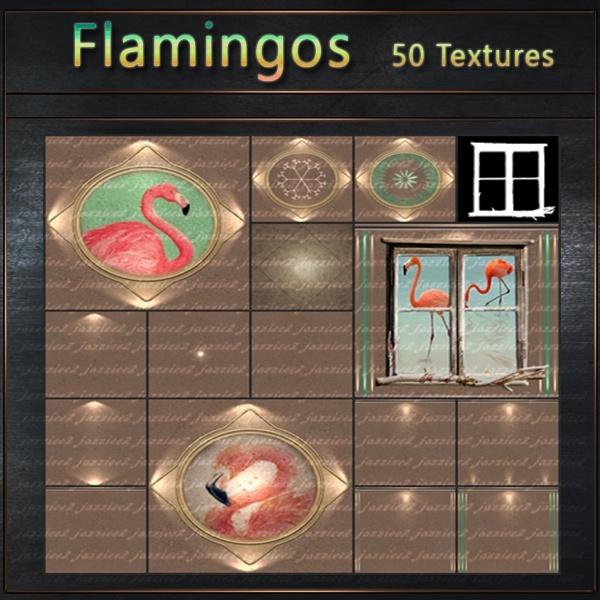 Flamingos 50 textures