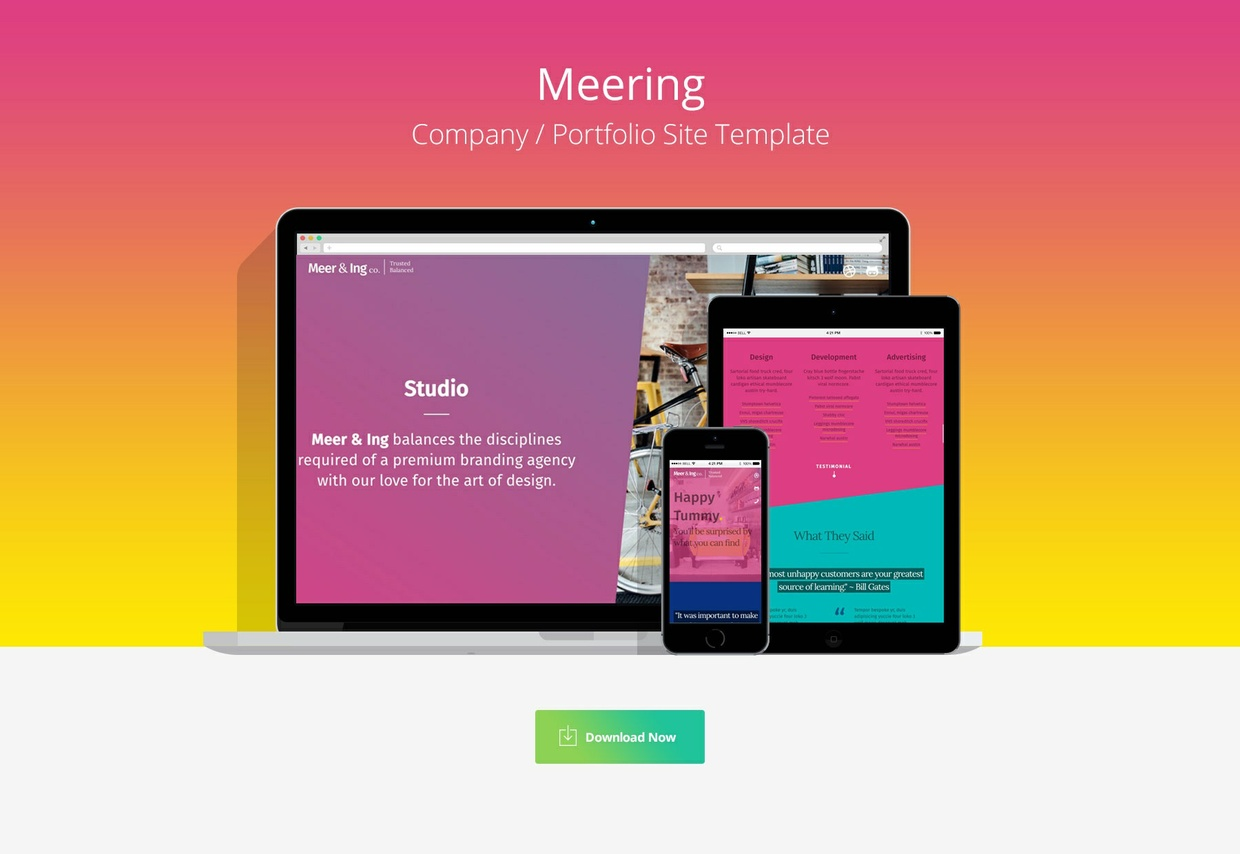 Meering - Company Profile HTML/CSS Template