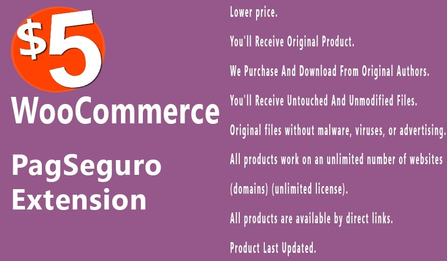WooCommerce PagSeguro Gateway 1.3.3 Extension