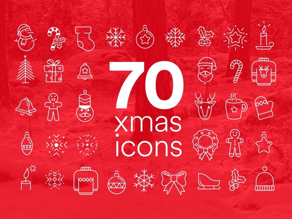 70 AWESOME XMAS ICONS