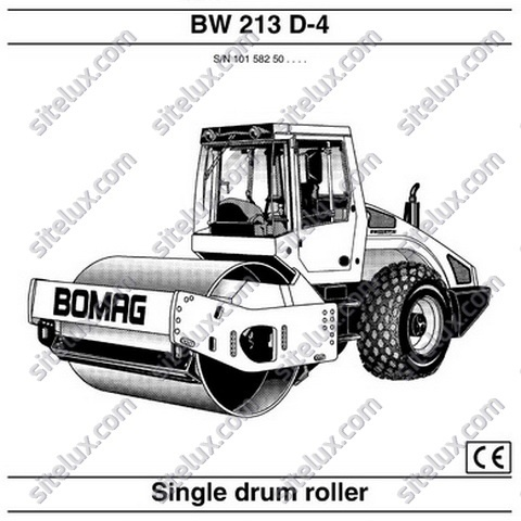 Bomag BW 213 D-4 Single Drum Roller Operation & Maintenance Instructions